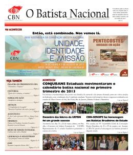 Clique para ler - Convenção Batista Nacional