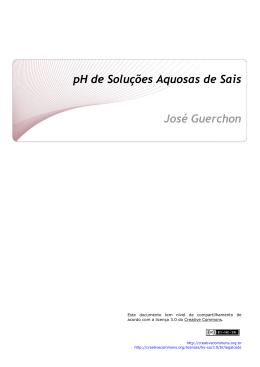 pH de Soluções Aquosas de Sais José Guerchon - CCEAD PUC-Rio