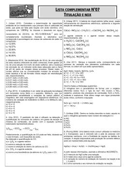 Lista complementar 07 - Lógico Cursos Aliados