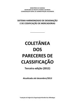 Coletânea dos Pareceres de Classificação da OMA