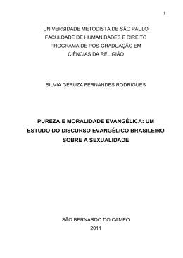 pureza e moralidade evangélica - Universidade Metodista de São
