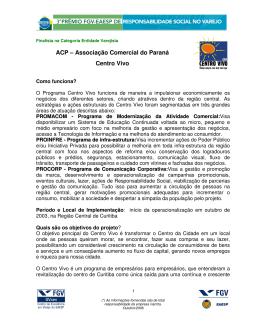 ACP – Associação Comercial do Paraná Centro Vivo