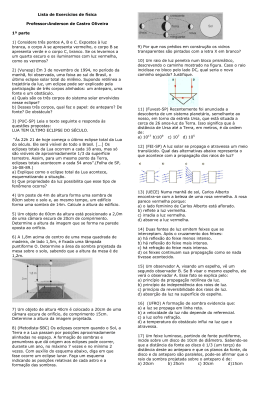 Lista de Exercícios de física Professor:Anderson de Castro Oliveira
