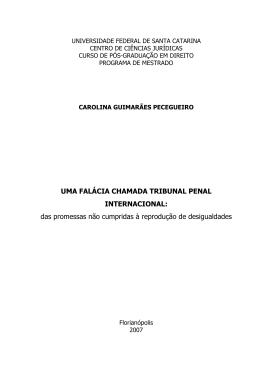 UMA FALÁCIA CHAMADA TRIBUNAL PENAL