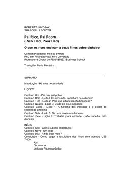 Pai Rico, Pai Pobre - Marca Consultoria & Treinamentos