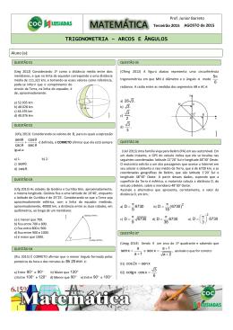 atividades de trigonometria arcos e angulos