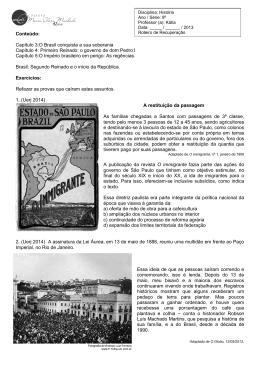 História 8º Ano - Colégio Maria Clara Machado