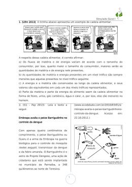 Simulado Geral I 1 1. (Ufrn 2013) A tirinha abaixo