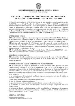 Edital - Ministério Público de Minas Gerais