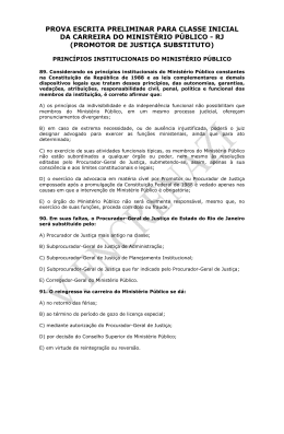 Questões comentadas OMP – Promotor RJ