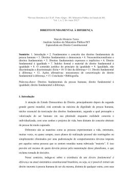 Direito fundamental à diferença - Marcelo - Ministério Público