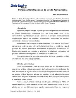 Princípios Constitucionais do Direito Administrativo