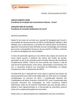 Brasília, 16 de dezembro de 2015. CARLOS ALBERTO CASER