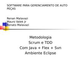 SOFTWARE PARA GERENCIAMENTO DE AUTO PEÇAS