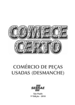 Comércio de peças usadas (desmanche)_II.indd - Sebrae-SP