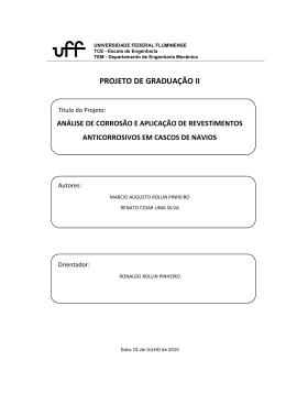 PROJETO DE GRADUAÇÃO II - Universidade Federal Fluminense