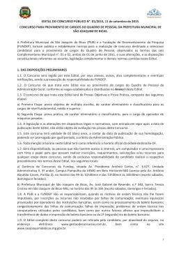 Abertura Edital - Prefeitura de São Joaquim de Bicas/MG