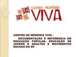 Universidade Católica de Brasília Mestrado Em Educação