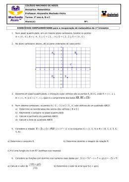 Estudo de Recuperação Matemática 1º ano EM - 1º tri