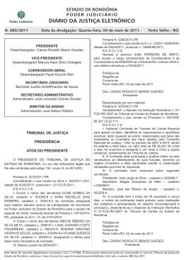 04 - Tribunal de Justiça de Rondônia