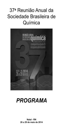 Programa Completo  - Sociedade Brasileira de Química
