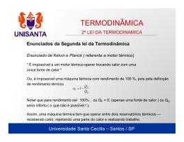 TERMODINÂMICA - Universidade Santa Cecília