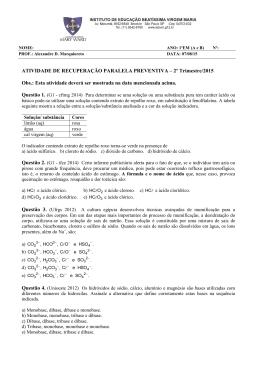 ATIVIDADE DE RECUPERAÇÃO PARALELA PREVENTIVA – 2º