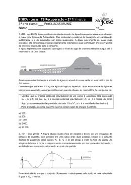 FÍSICA - Lucas TB Recuperação – 2º Trimestre 3º ano classe:___