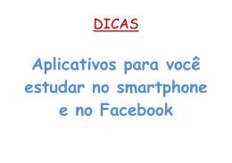 Aplicativos para você estudar no smartphone e no Facebook