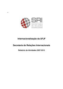 Internacionalização da UFJF Secretaria de Relações Internacionais