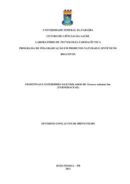 Feofitinas e Esteróides Glicosilados de Turnera subulata Sm.