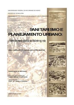 sanitarismo e planejamento urbano