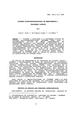 RBE. VOL.6 N.2 198~ por R.M.V. Piva 1, M.T.Brito Filho 1 C.P.Melo
