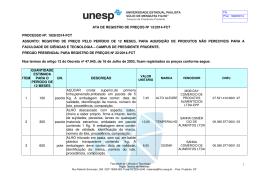 ATA DE REGISTRO DE PREÇOS Nº 13/2014-FCT