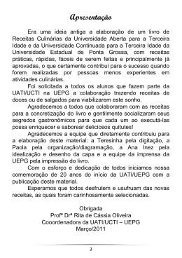 Apresentação - Universidade Estadual de Ponta Grossa