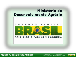 seguro da agricultura familiar cadastro nacional de cultivares crioulas