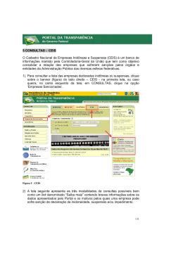 5 CONSULTAS - CEIS O Cadastro Nacional de Empresas Inidôneas