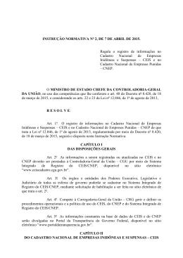Instrução Normativa nº 2/2015