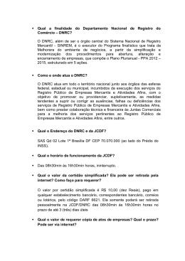 DNRC? - Ministério do Desenvolvimento, Indústria e Comércio