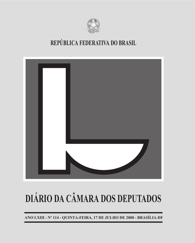f1de391967790 diário da câmara dos deputados república federativa do brasil