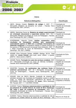 Outros Referência Bibliográfica Classificação 1. ABDO