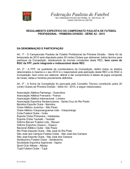Regulamento da Série A3 - Clube Atlético Juventus