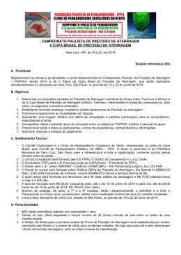 CAMPEONATO PAULISTA DE PRECISÃO DE