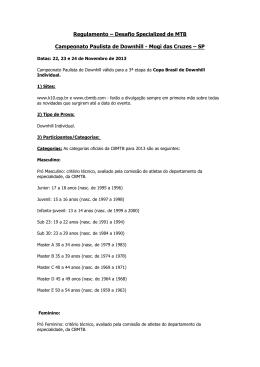 Regulamento – Desafio Specialized de MTB Campeonato Paulista