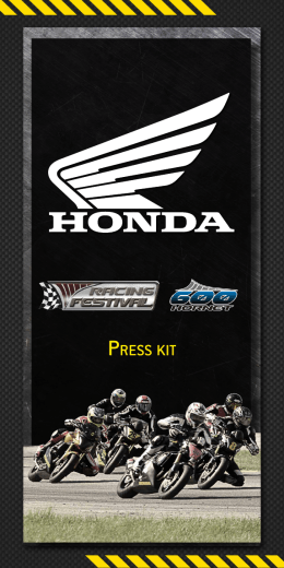 Press kit - Equipe Honda