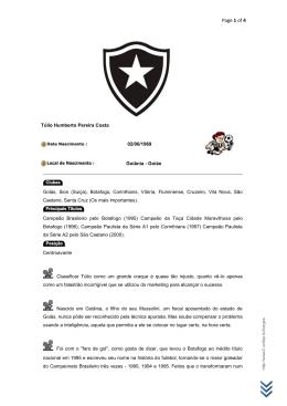 Craques do Botafogo - Túlio Humberto Pereira Costa