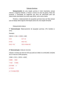 Aula 1-Estequiometria