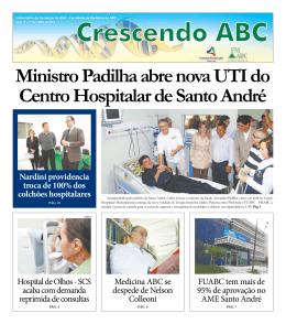 Ministro Padilha abre nova UTI do Centro Hospitalar de Santo André