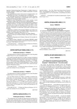 Aviso n.º 6989/2015 - Secção Regional Norte da Ordem dos Médicos