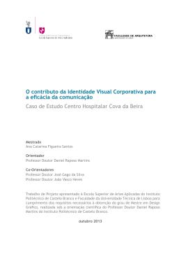 Centro Hospitalar Cova da Beira - Repositório Científico do IPCB